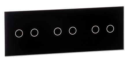 Sześciokrotny czarny panel szklany 70222-62 LIVOLO