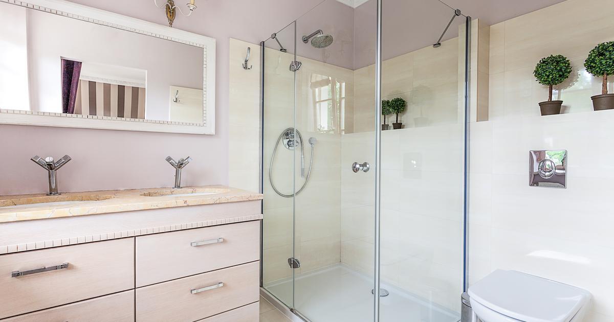 pomys na adn azienk z prysznicem. Black Bedroom Furniture Sets. Home Design Ideas