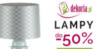 Promocja lamp - do 50% w sklepie Dekoria.pl