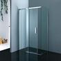 Kabina prysznicowa bez brodzika w minimalistycznej łazience