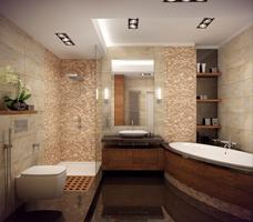 Nowoczesna łazienka z wanną i prysznicem